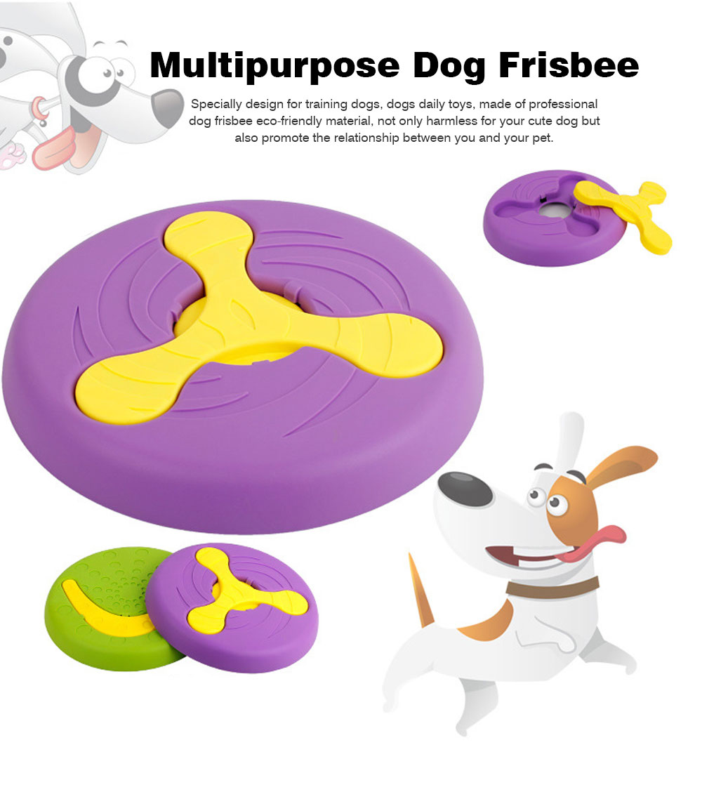 Creative Dog Frisbee, Bite Resistant Plastic Dog Frisbee Toy For Throwing Training, 2 Style 0