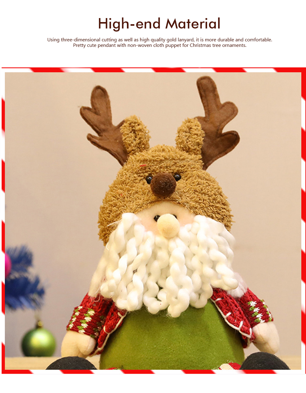 Christmas Decorations Plush Elk Sitting Posture Dolls for Children's Gifts and Mall Window Decoration Props 3
