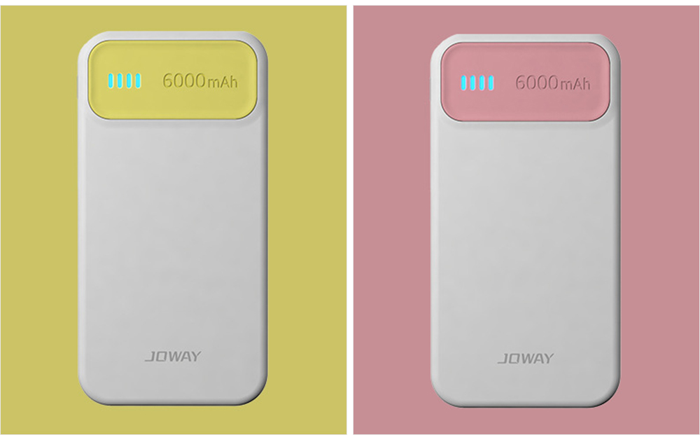 Candy Color Fast Charging Power Bank for Cell Phone, Fresh Style Polymer Battery 6000mAh Portable External Battery Charger 19