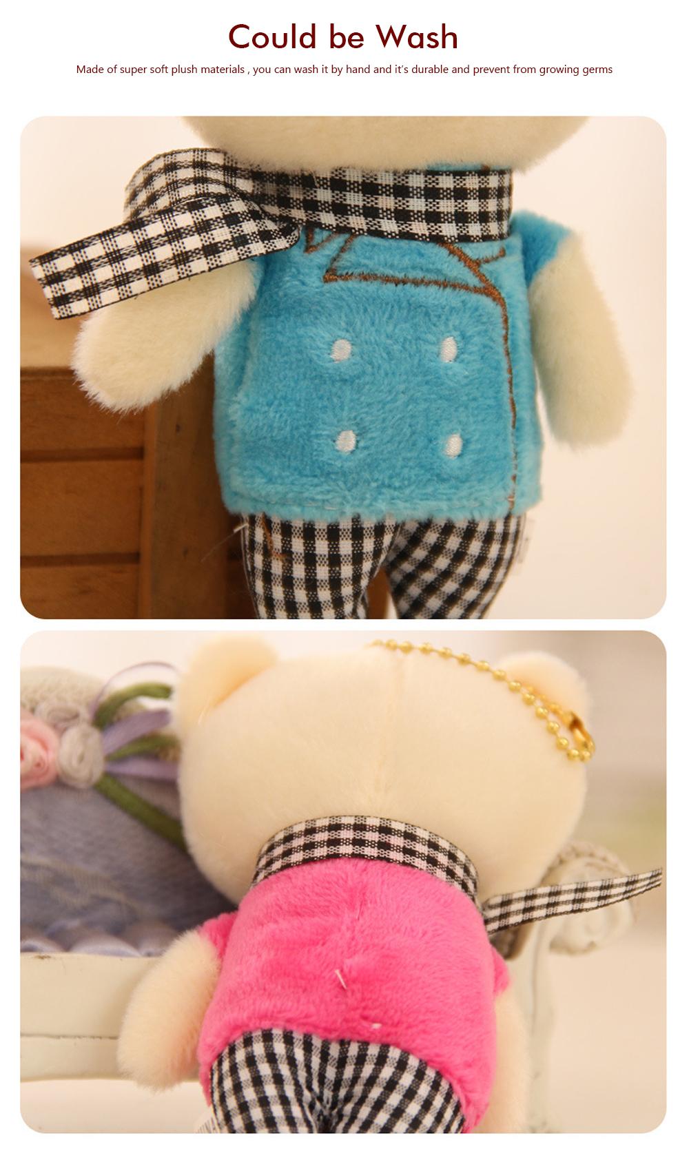 Windbreaker Rabbit Plush Toy, Bunny Bear Doll Small Pendant For Children And Shopping Mall Furnishings 2