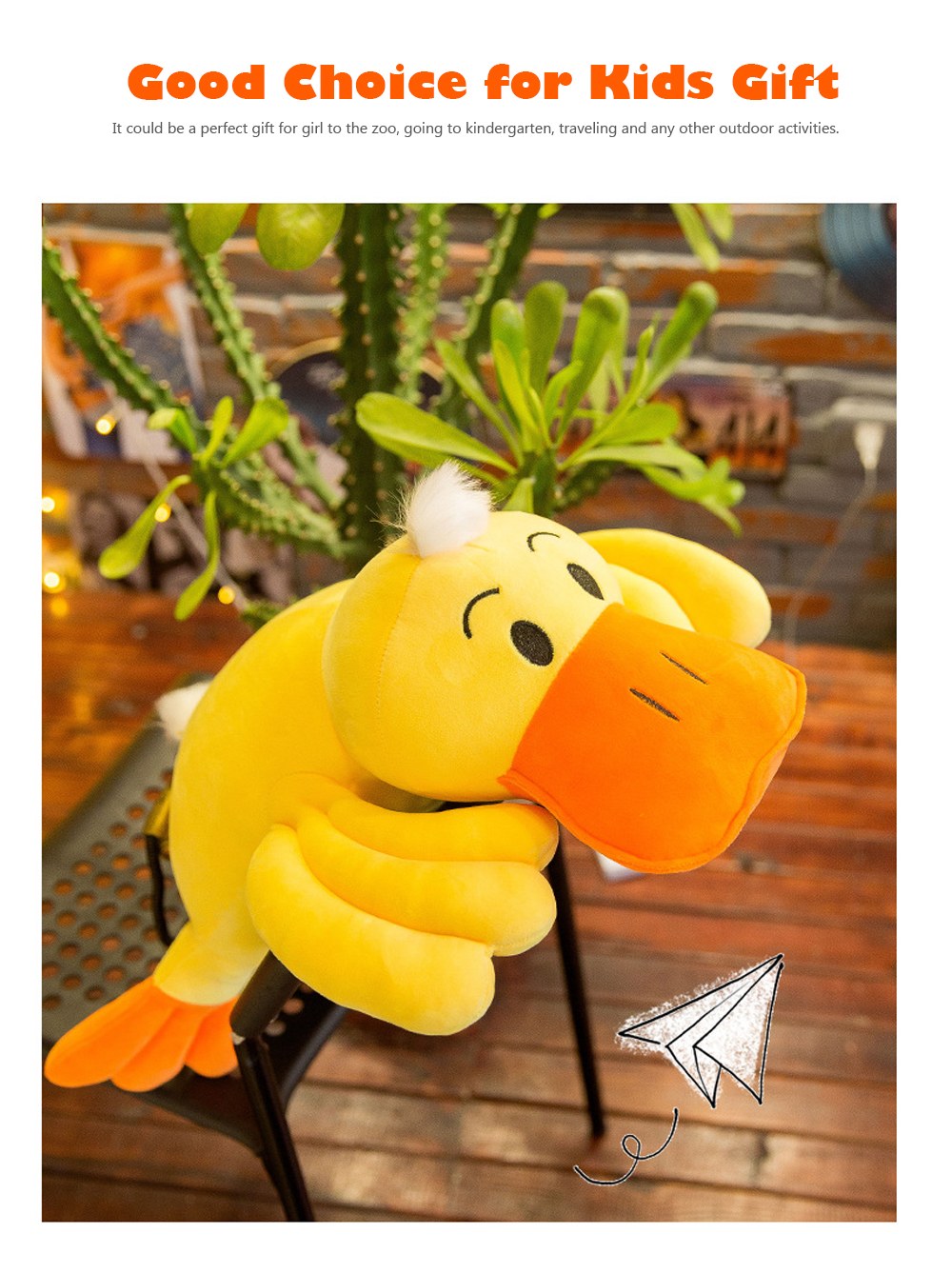 Yellow Duck Plush Toy, Grab Doll Claw Toy, Cute Duck Doll Festival Activities Gift 5