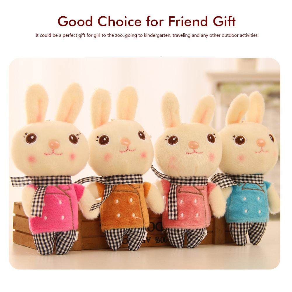 Windbreaker Rabbit Plush Toy, Bunny Bear Doll Small Pendant For Children And Shopping Mall Furnishings 8