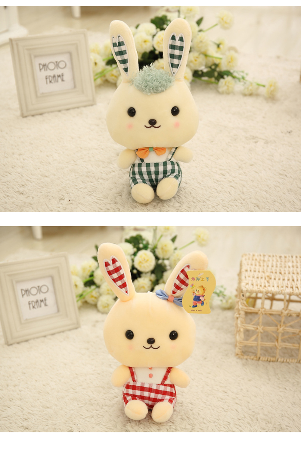 Bunny Plush Toy Grab Doll Machine Doll Cute Gege Rabbit Doll Festival Activities Gift 7