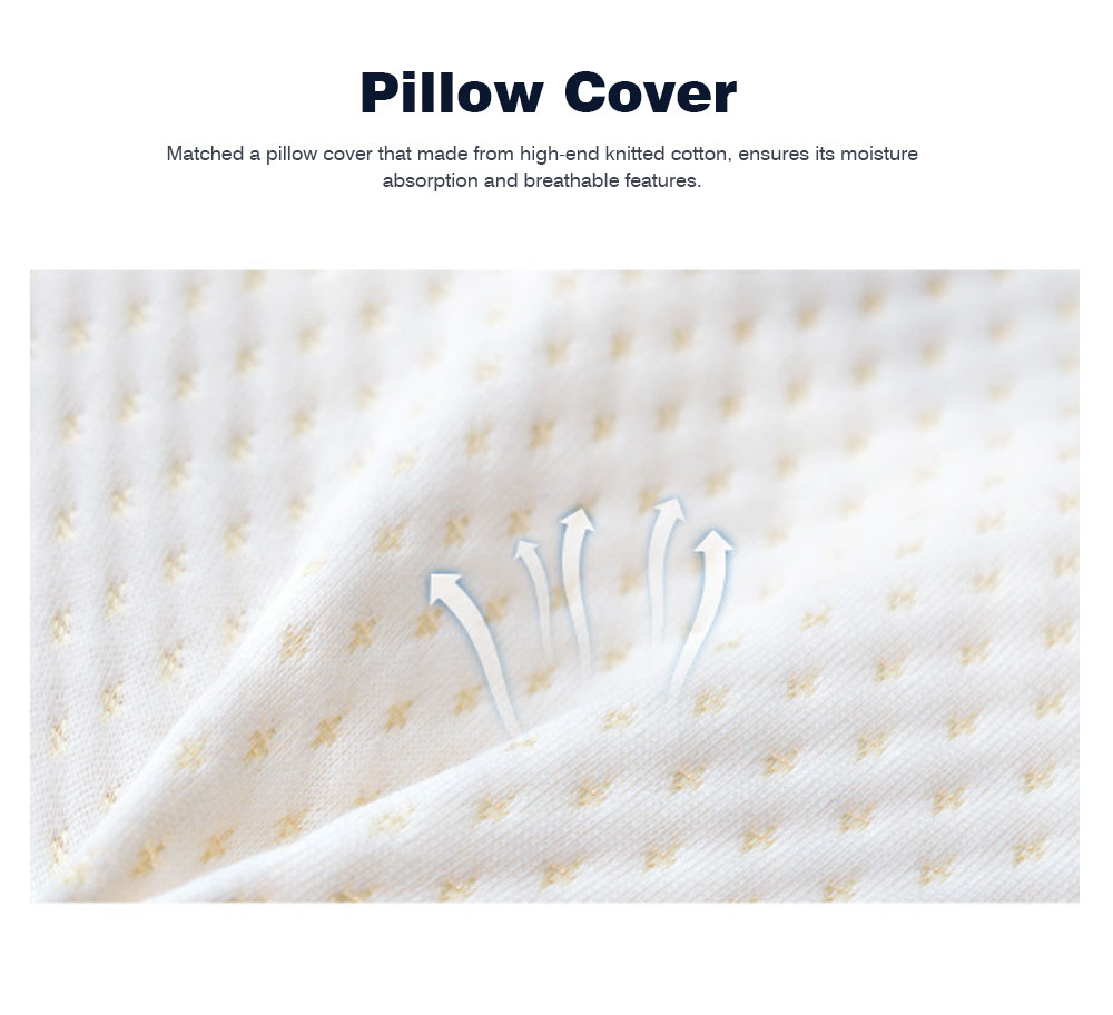 Breathable Massage Latex Pillow for Men Women, Universal Adult Spondylosis Prevention Natural Latex Pillow 6