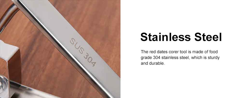 Red Dates Corer Tool, 304 Stainless Steel Cherry Hawthorn Fruit Practical Creative Pitter for Household Easy Removal Core Seeder 1