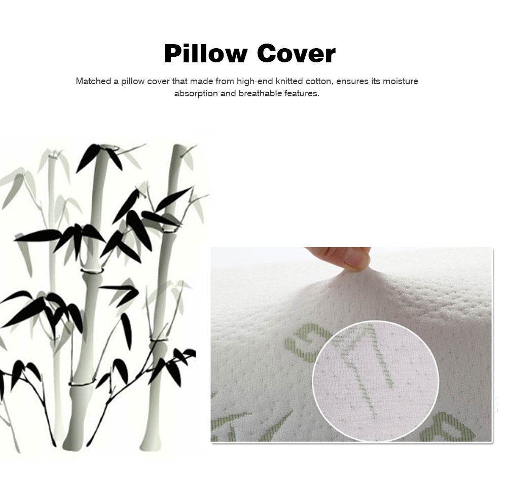 Slow Rebound Memory Pillow for Adults, Bamboo Fiber Universal Neck Pillow for Sleeping 5