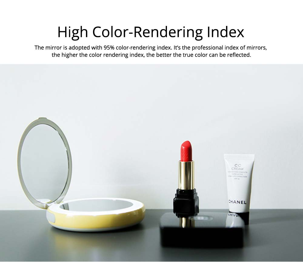Creative 2 In 1 LED Cosmetic Mirror Power Bank, Portable External Battery Charger USB Socket for Cell Phone 17