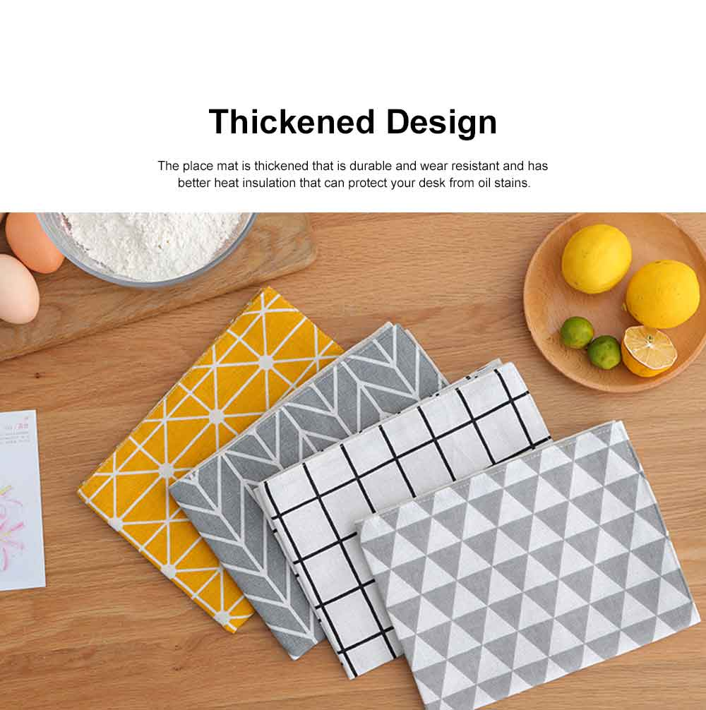 Heat Resistant Place Mats for Dinner Table, Japanese Simple Tea Towel, Photo Background Table Linen 4
