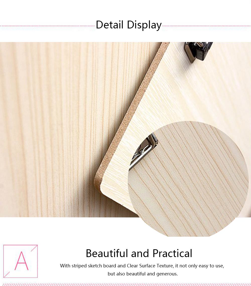 Portable Drawing Board, 6K Wooden Sketch Board, A3 Sketching Board for Drawing 2