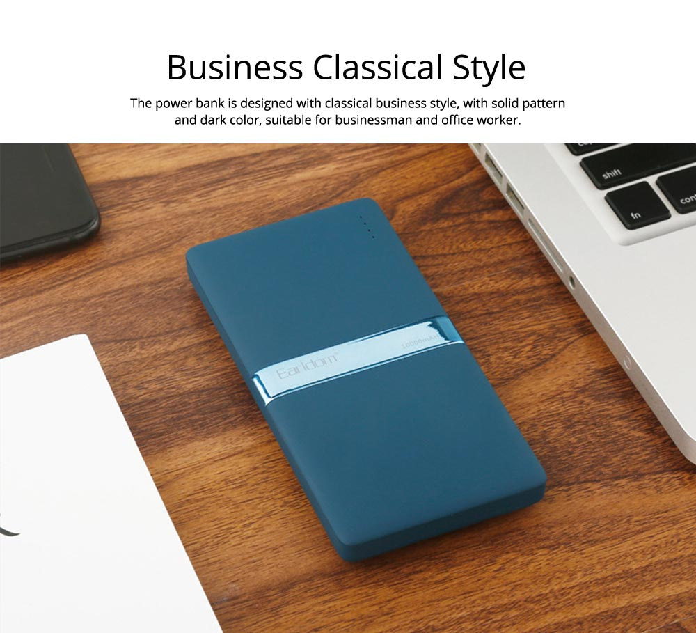 Stylish Business Power Bank 10000 5000mAh, Portable External Polymer Battery Charger USB Socket Power Bank for Cell Phone 1
