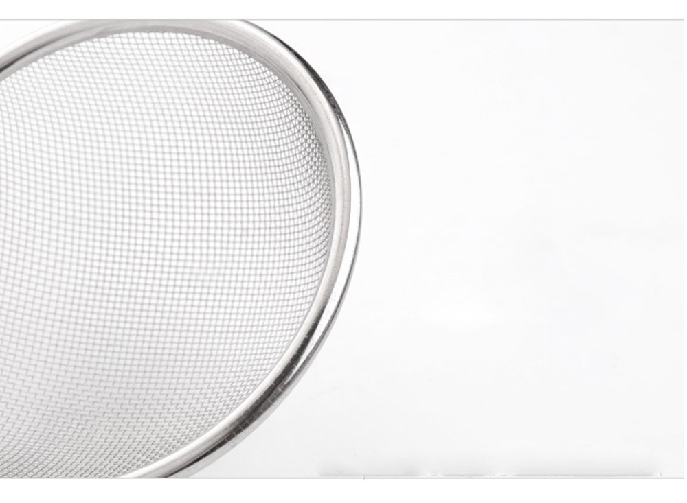 High Quality Mesh Stainless Steel Strainers, All Purpose Food Strainer and Colander Sieve for Superior Baking and Cooking Preparation, Set of 3 6