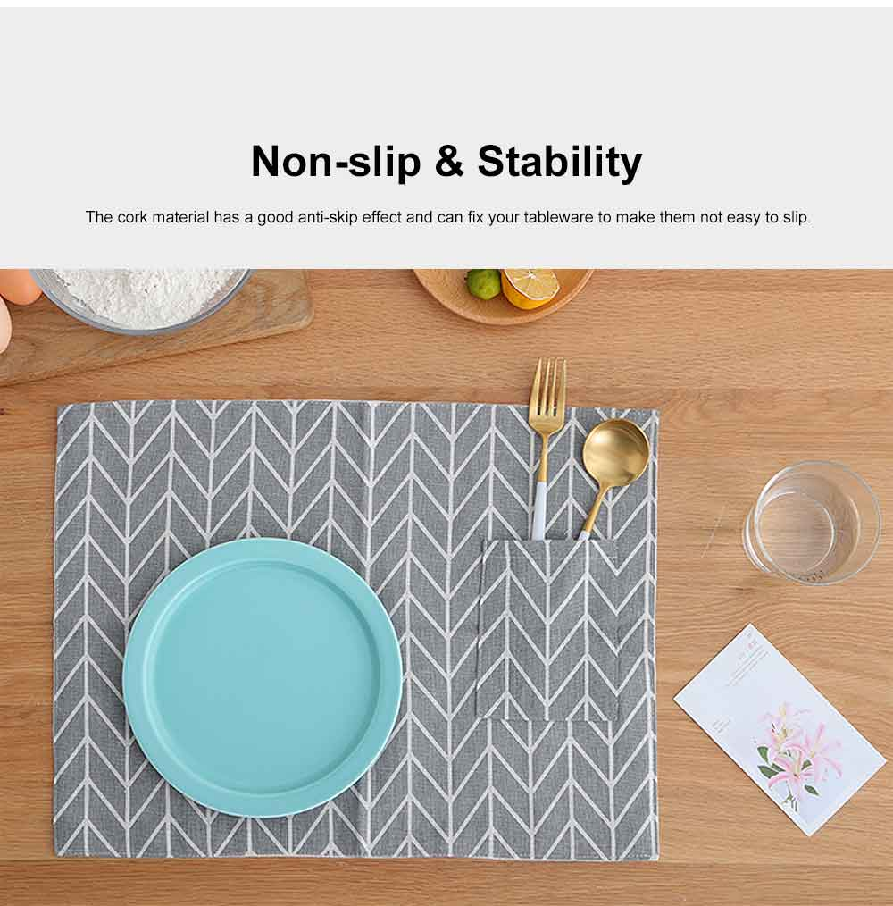 Heat Resistant Place Mats for Dinner Table, Japanese Simple Tea Towel, Photo Background Table Linen 3