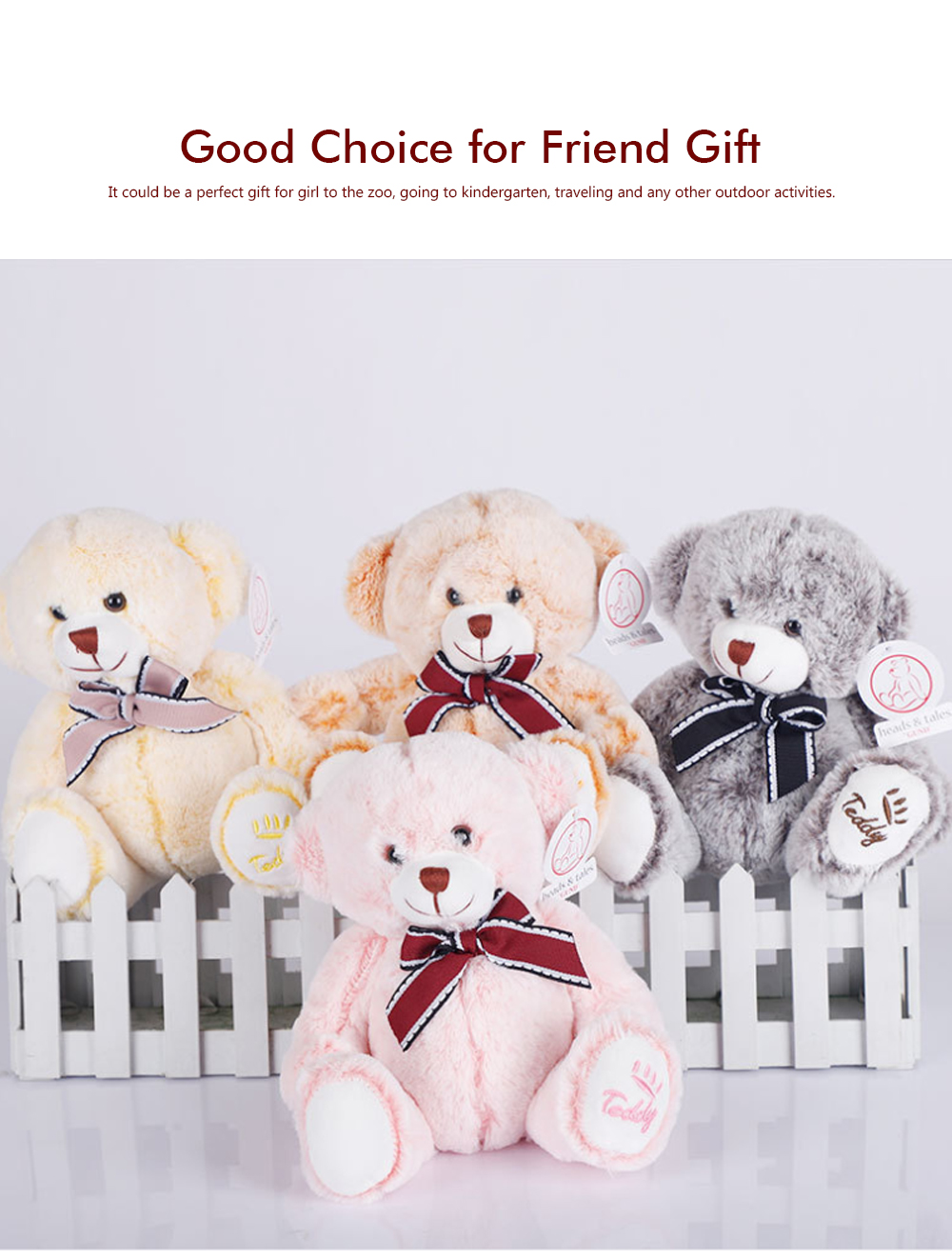 Bow Tie Bear Plush Toy, Grab Doll Machine Toys, Gifts for Decorating Housing and Cars 4