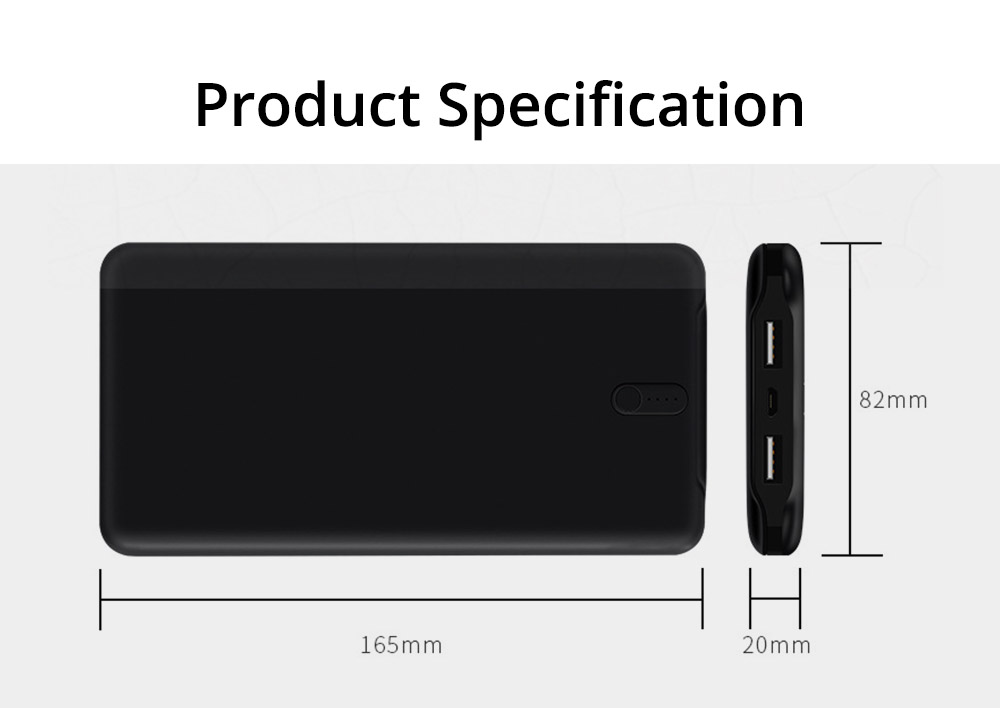 Slim Power Bank 20000mAh Large Capacity, Dual Inputs 2 Output Ports, Compatible Smartphone, Tablet 14