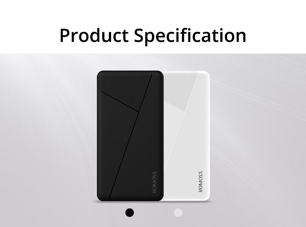 Contracted Business Power Bank 10000mAh, Geometric Black White Portable External Battery Charger Power Bank with 2 USB Socket 10