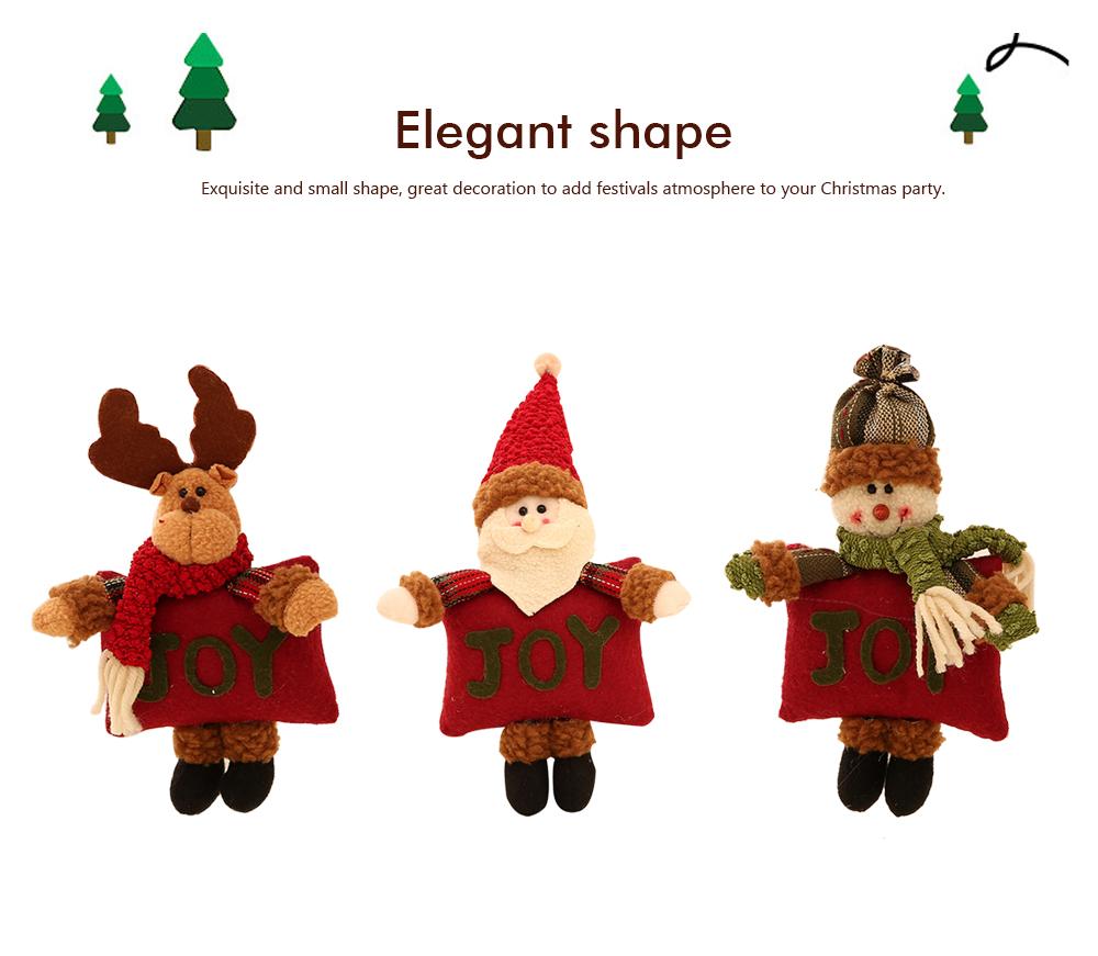 Christmas Decorations Small Dolls Ornaments, Three-dimensional Dolls Christmas Tree Pendants Cloth Pendant 6