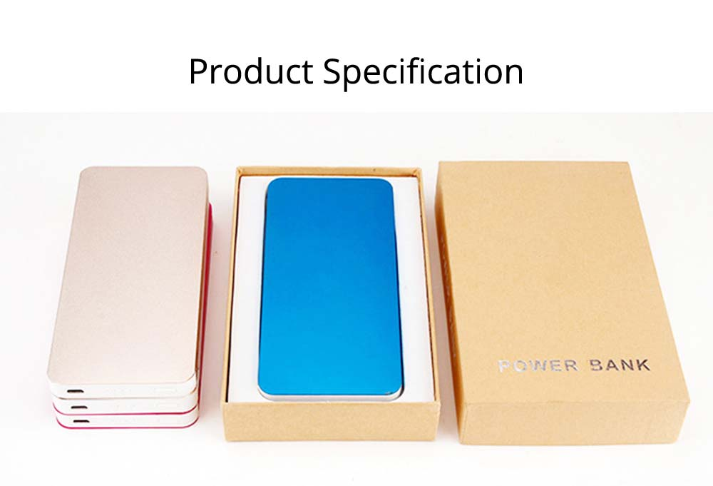 Power Bank 20000mAh, Ultra Thin Phone Charging External Battery Charger Power Bank for Cell Phone, 2 USB Socket 20