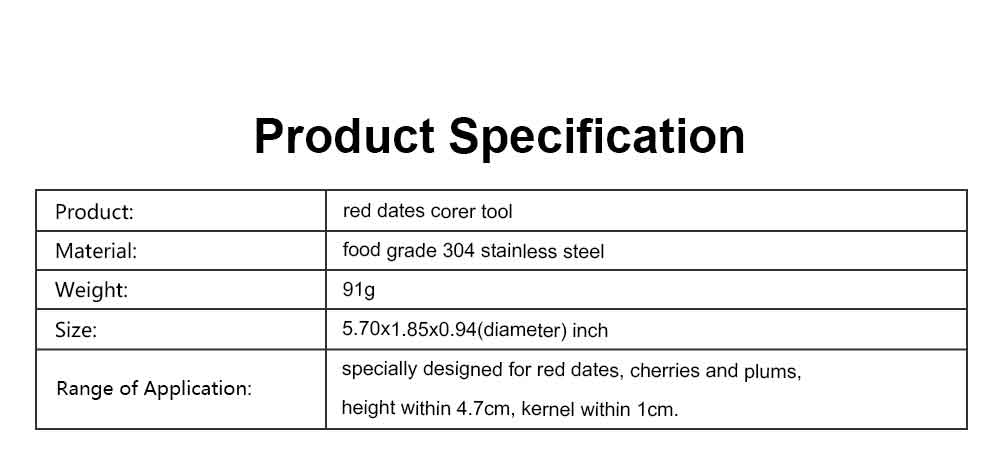 Red Dates Corer Tool, 304 Stainless Steel Cherry Hawthorn Fruit Practical Creative Pitter for Household Easy Removal Core Seeder 7