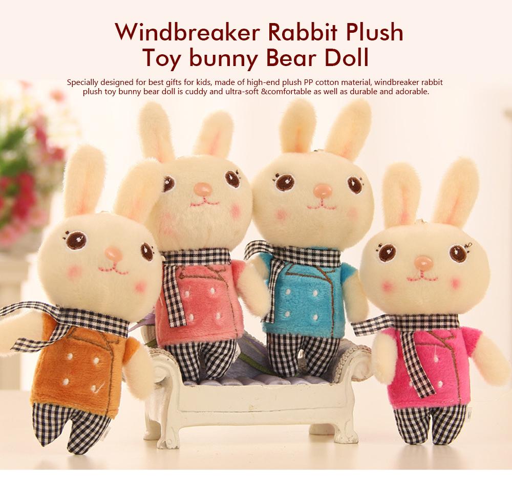 Windbreaker Rabbit Plush Toy, Bunny Bear Doll Small Pendant For Children  And Shopping Mall Furnishings