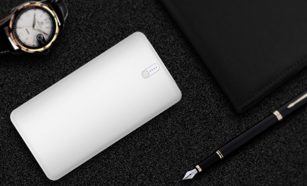 Slim Power Bank 20000mAh Large Capacity, Dual Inputs 2 Output Ports, Compatible Smartphone, Tablet 17