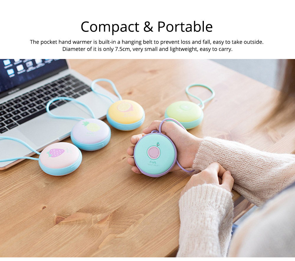 4500mAh Power Bank Hand Warmer, Creative Fruit Macaroon Rounded 2 In 1 Pocket Silicone Electric Heater USB Charger 13