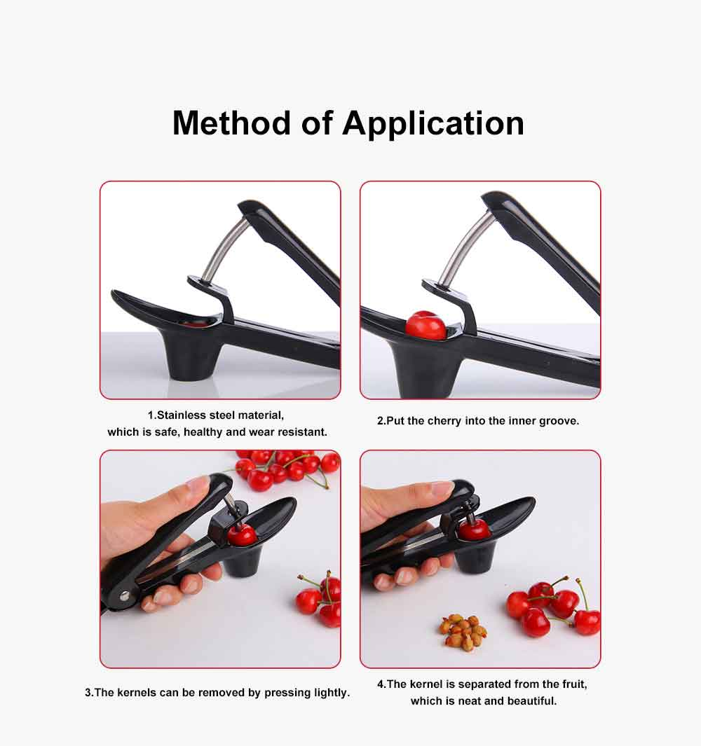 Stainless Steel Red Dates Corer Tool Cheery Seeder, Easy Removal Core Seeder Multifunctional Coring Tool 6