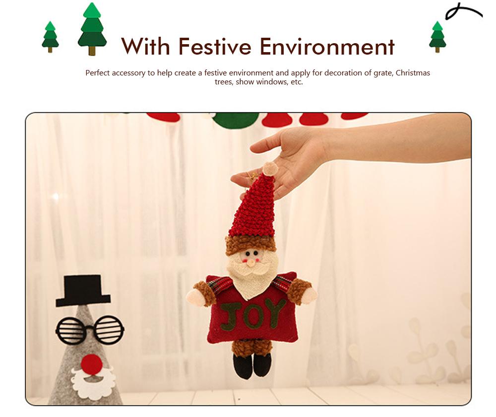 Christmas Decorations Small Dolls Ornaments, Three-dimensional Dolls Christmas Tree Pendants Cloth Pendant 2