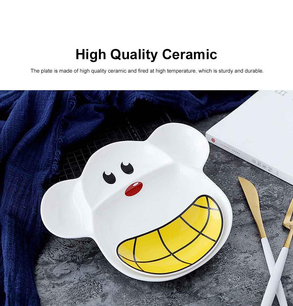 Children Tableware Baby Compartment Tray, Creative Cartoon Cute Plate, Ceramic Fruit Western Food Dish 11
