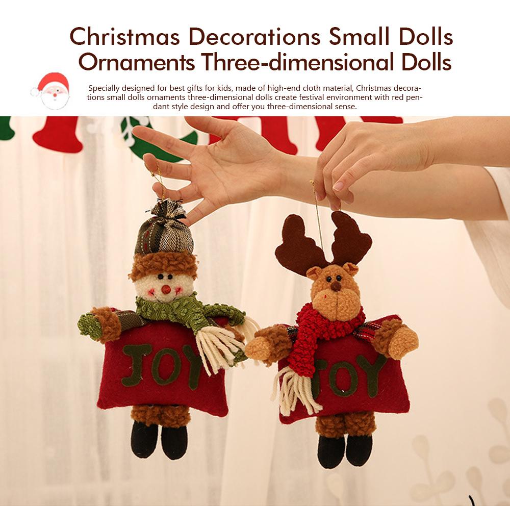 Christmas Decorations Small Dolls Ornaments, Three-dimensional Dolls Christmas Tree Pendants Cloth Pendant 0