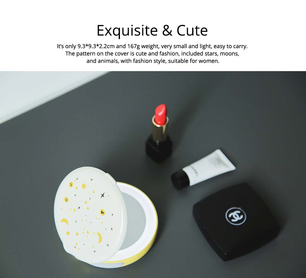 Creative 2 In 1 LED Cosmetic Mirror Power Bank, Portable External Battery Charger USB Socket for Cell Phone 18