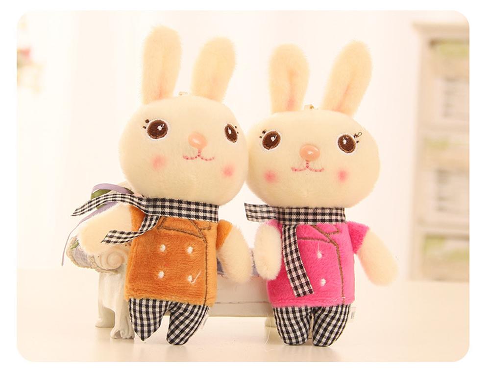 Windbreaker Rabbit Plush Toy, Bunny Bear Doll Small Pendant For Children And Shopping Mall Furnishings 4