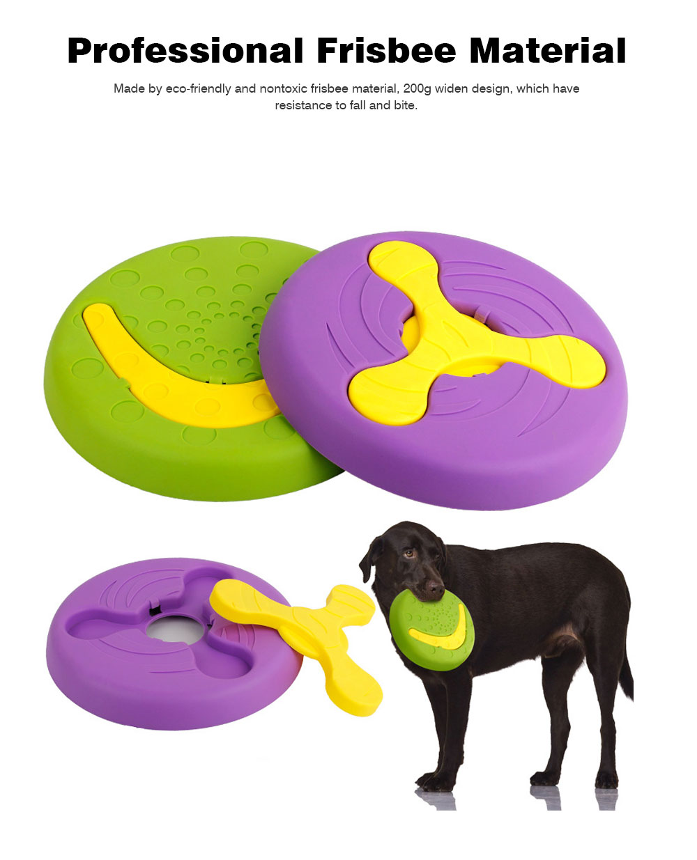 Creative Dog Frisbee, Bite Resistant Plastic Dog Frisbee Toy For Throwing Training, 2 Style 3