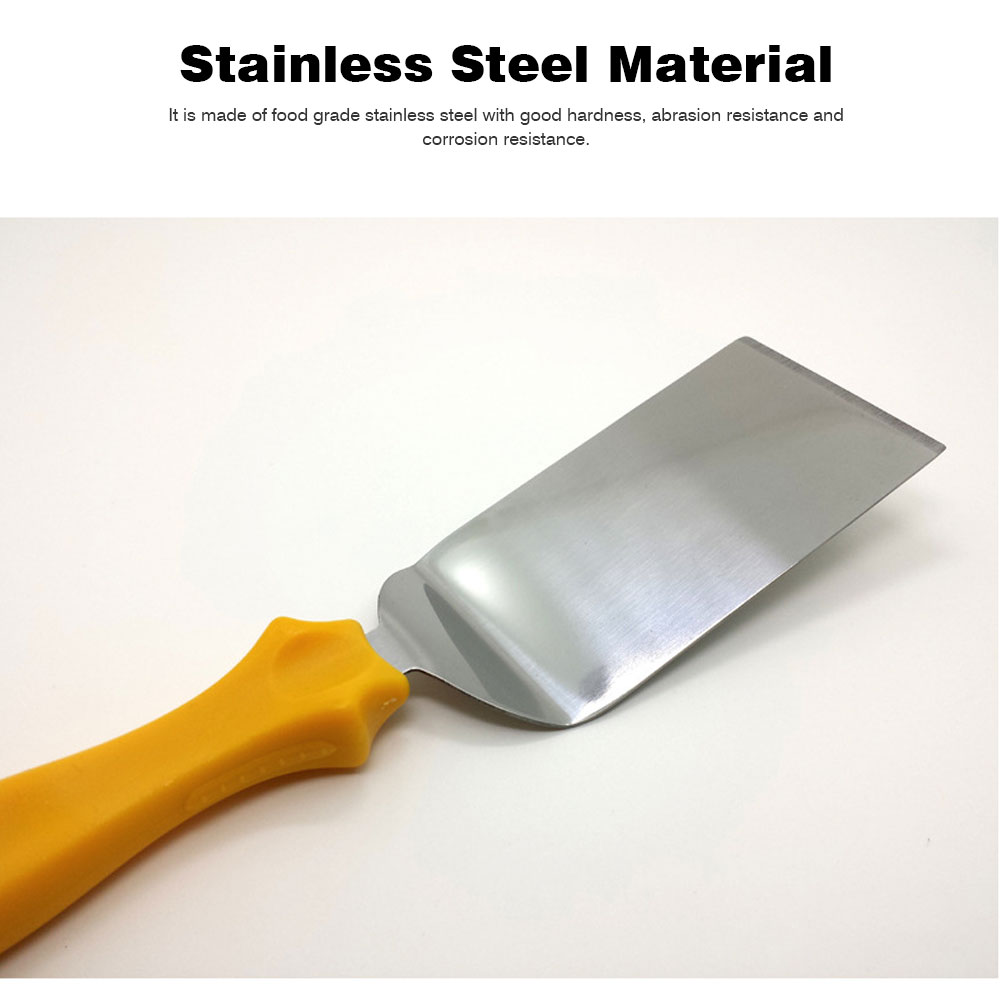 Stainless Steel Shovel Knife, Butter Cheese Cutter Knife, Cook Accessories Cooking Pizza Food Shovel, PP Handle, Set Of 3 2