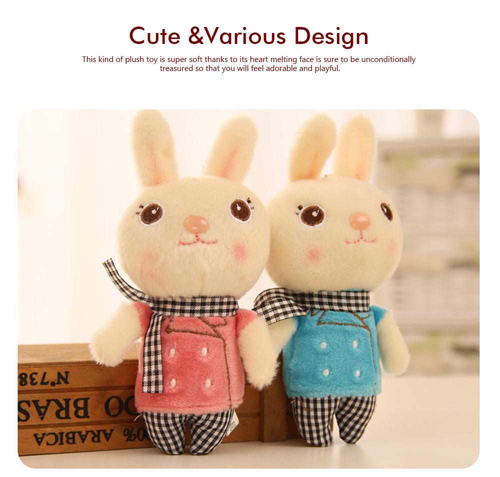 Windbreaker Rabbit Plush Toy, Bunny Bear Doll Small Pendant For Children And Shopping Mall Furnishings 3