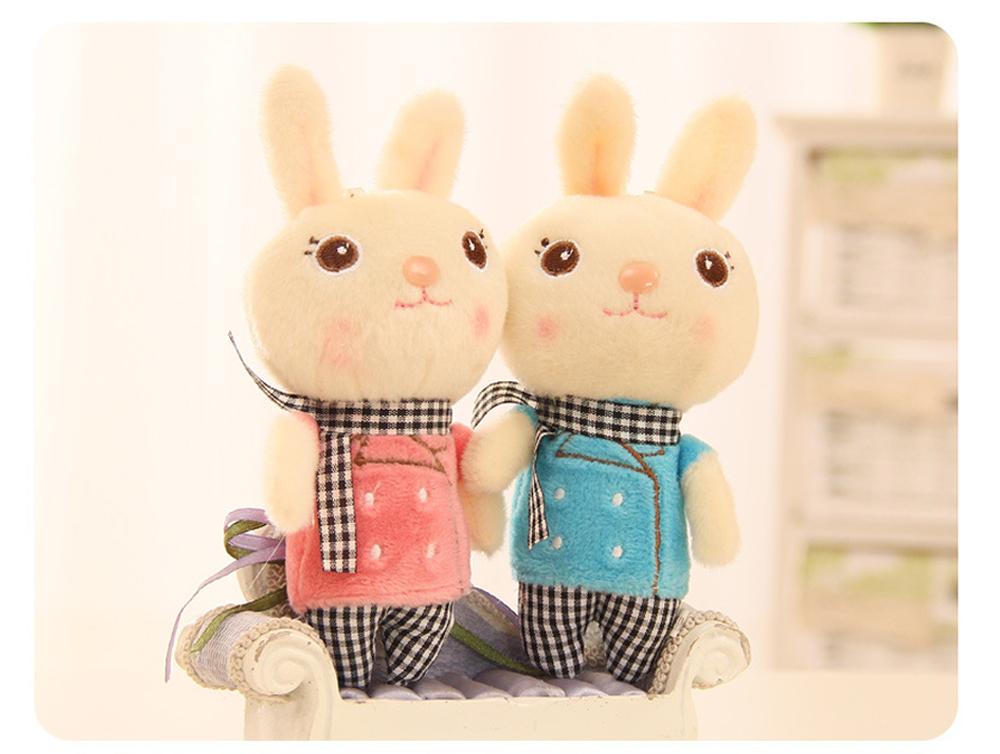 Windbreaker Rabbit Plush Toy, Bunny Bear Doll Small Pendant For Children And Shopping Mall Furnishings 5