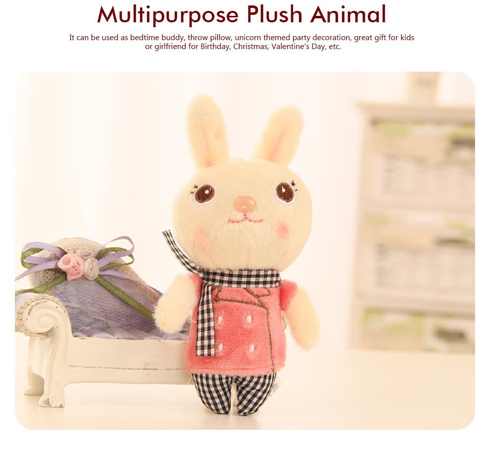 Windbreaker Rabbit Plush Toy, Bunny Bear Doll Small Pendant For Children And Shopping Mall Furnishings 9