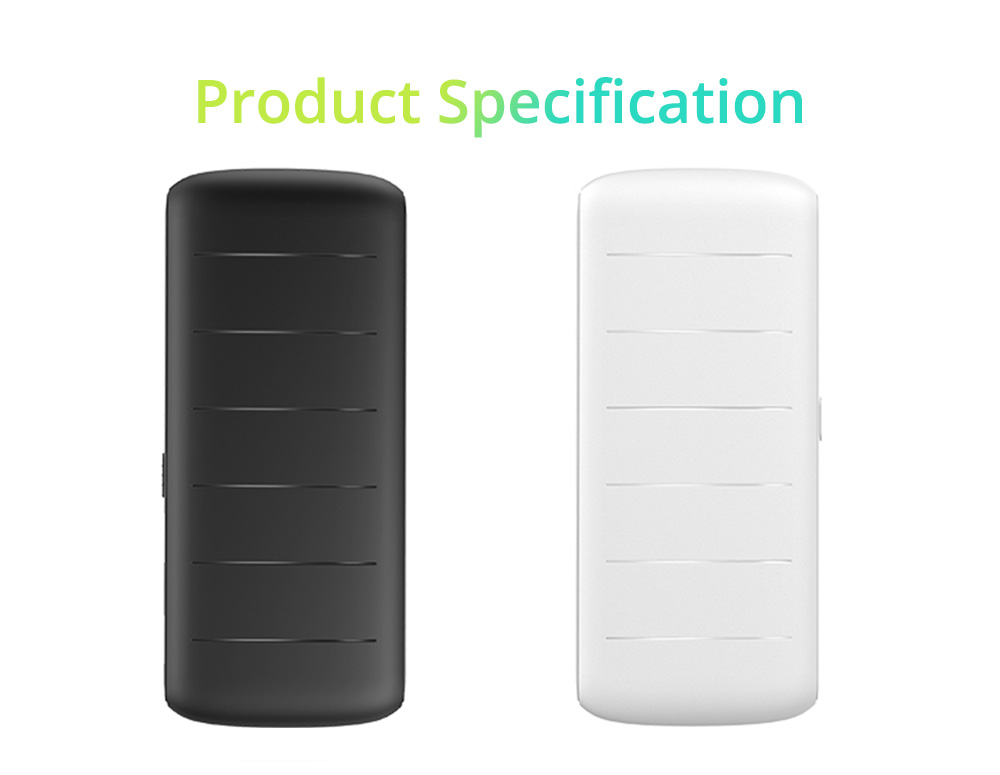 Dual USB Power Bank for Cell Phone 10000mAh, Contracted Circular Arc Portable External Battery Fireproof ABS Charger 8