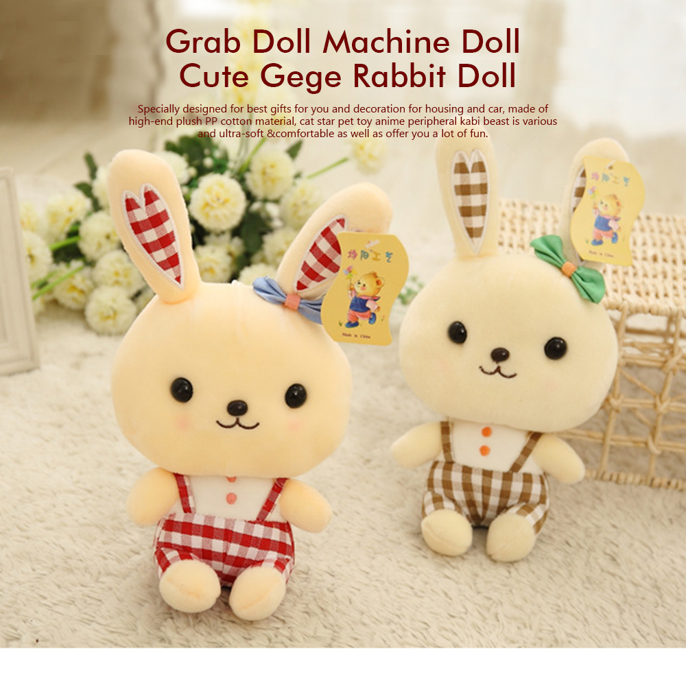 Bunny Plush Toy Grab Doll Machine Doll Cute Gege Rabbit Doll Festival Activities Gift 0