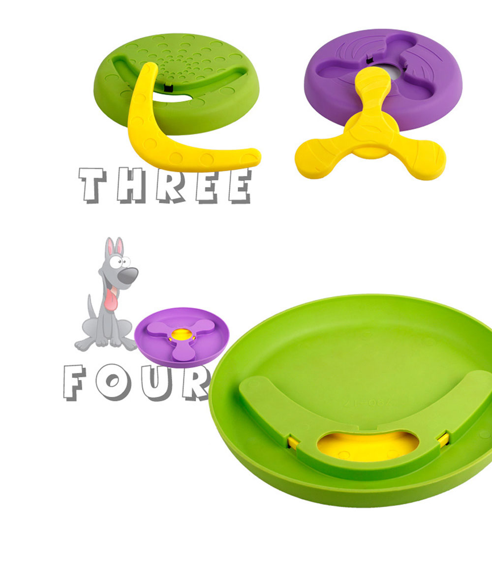 Creative Dog Frisbee, Bite Resistant Plastic Dog Frisbee Toy For Throwing Training, 2 Style 5