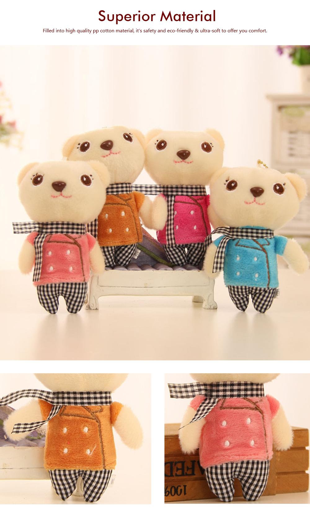 Windbreaker Rabbit Plush Toy, Bunny Bear Doll Small Pendant For Children And Shopping Mall Furnishings 1