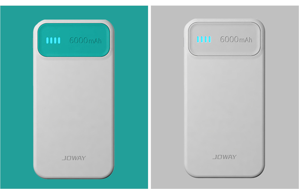 Candy Color Fast Charging Power Bank for Cell Phone, Fresh Style Polymer Battery 6000mAh Portable External Battery Charger 18