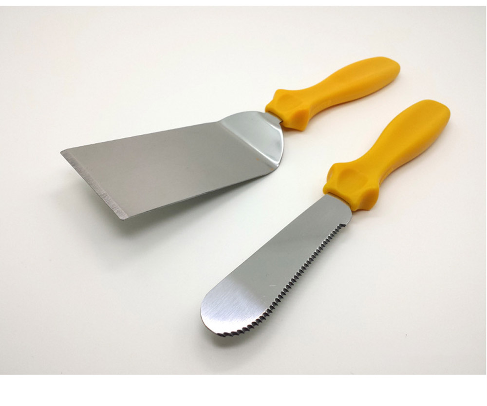 Stainless Steel Shovel Knife, Butter Cheese Cutter Knife, Cook Accessories Cooking Pizza Food Shovel, PP Handle, Set Of 3 3