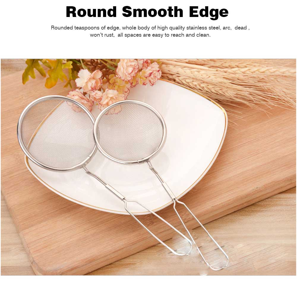 High Quality Mesh Stainless Steel Strainers, All Purpose Food Strainer and Colander Sieve for Superior Baking and Cooking Preparation, Set of 3 5