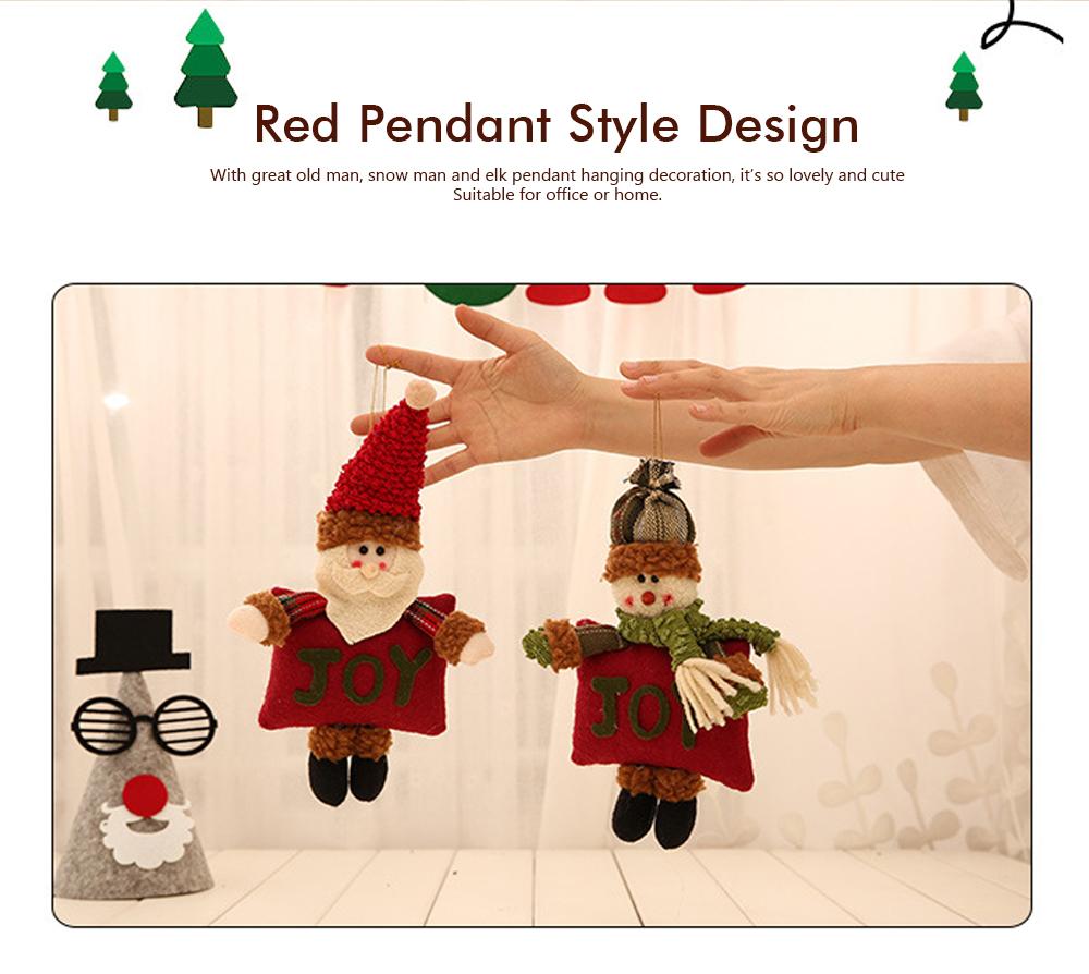 Christmas Decorations Small Dolls Ornaments, Three-dimensional Dolls Christmas Tree Pendants Cloth Pendant 1