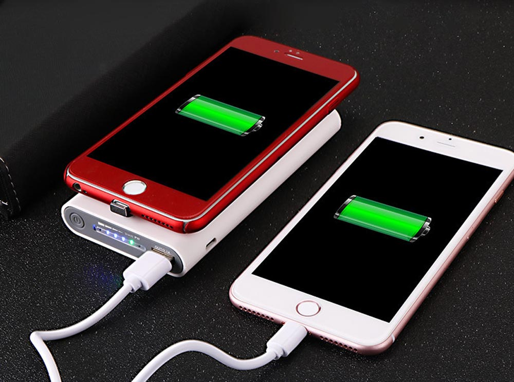 Wireless Charging Power Bank for Cell Phone, Smart 10,000mAh Portable External Battery Acrylic Charger 2