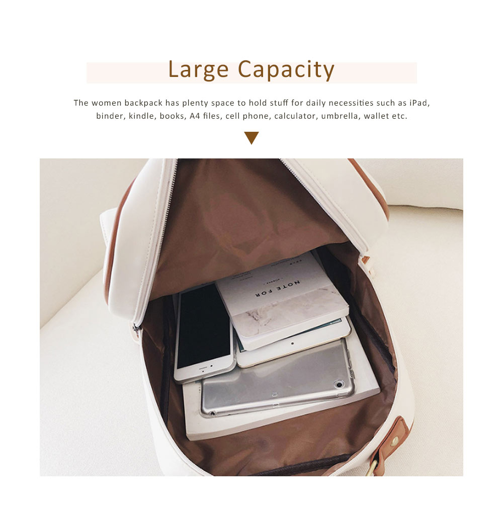 Japanese Style College School Bag Vintage Casual Zipper Flap PU Leather Shoulder Bag Fashion Accessories 5