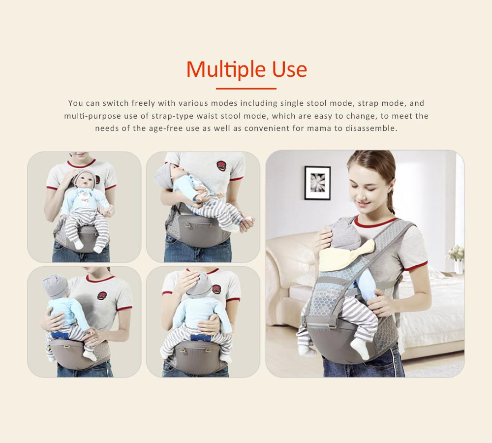 Breathable & Soft Baby Carrier with All-in-one Chew Towel, Multiple Functional Baby Lab for Newborn, Infant Toddler in Summer 5