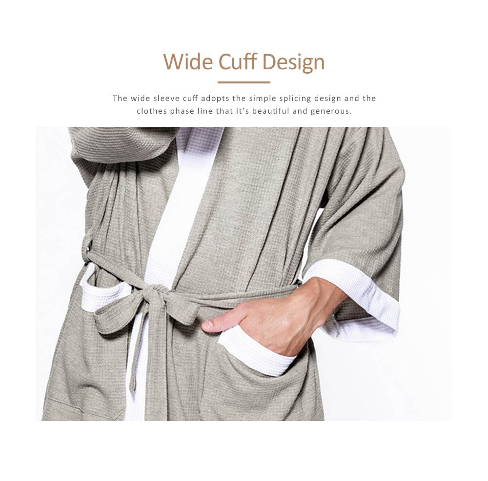 Men All-cotton Skin-friendly Night Gown, Bathrobe, Sweat Sauna Towel for Beauty Salon and Spa Hotel 3