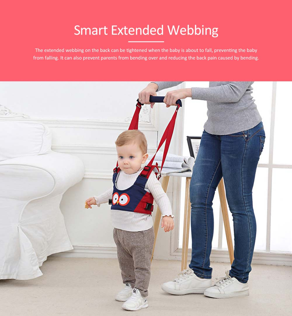 Handheld Baby Walker for Toddler, Breathable Basket Baby Walking Belt with Detachable Crotch for Infant 4
