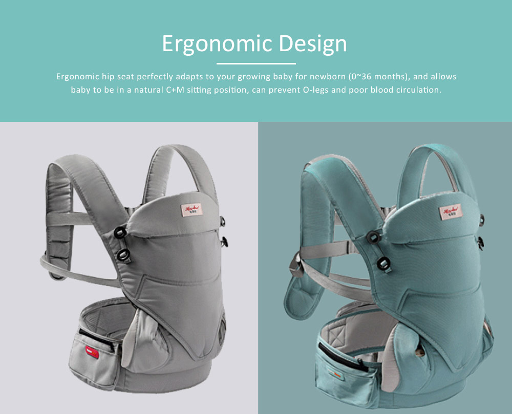 Baby Waist Stool Front Embrace Type, Baby Carriers Adjustable Shoulders Embrace Babies Waist Stool 2